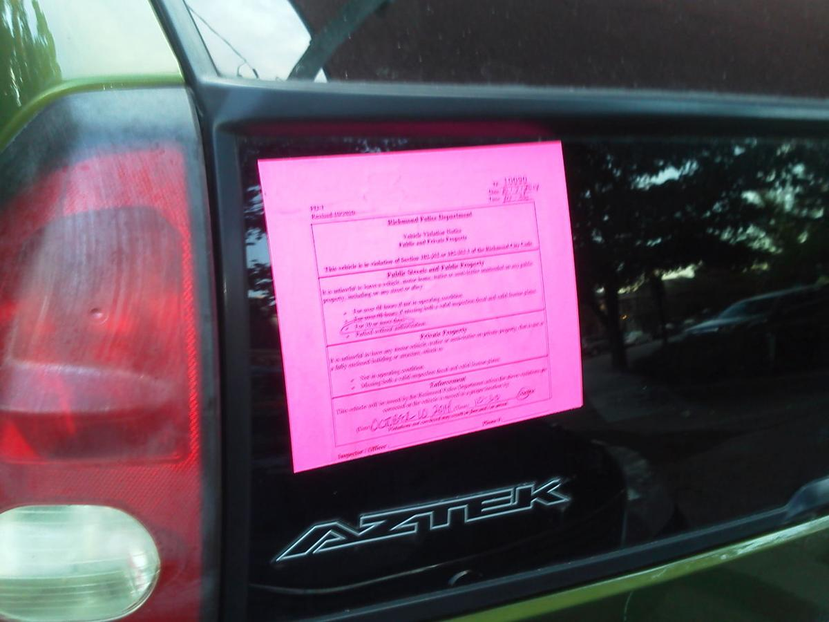 Why Richmond, Why?!? Reporting Abandoned, Illegal Cars | Why ...