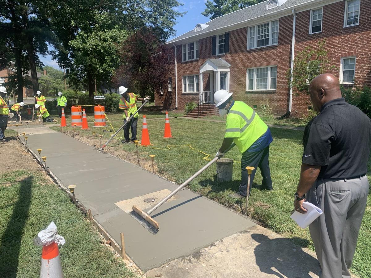 Richmond sidewalk maintenance on McGuire Drive