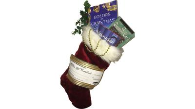 Stocking filled with three books