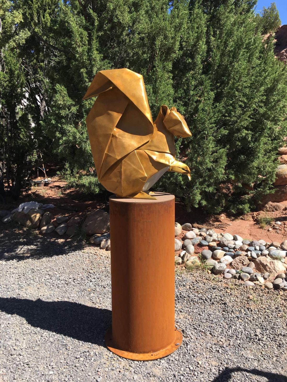 Artist Kevin Box brings origami-inspired sculptures to Lewis Ginter ...