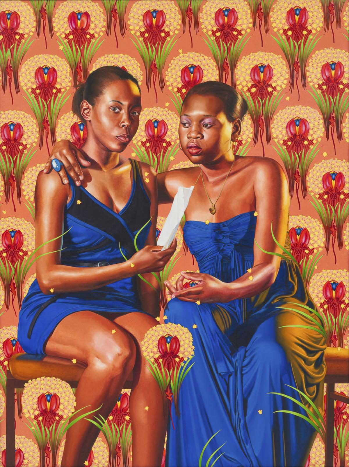 'The Sisters Zénaïde and Charlotte Bonaparte' by Kehinde Wiley