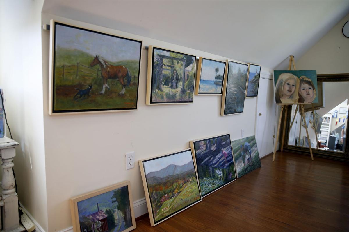 Joyce Satterwhite's studio in Farnham