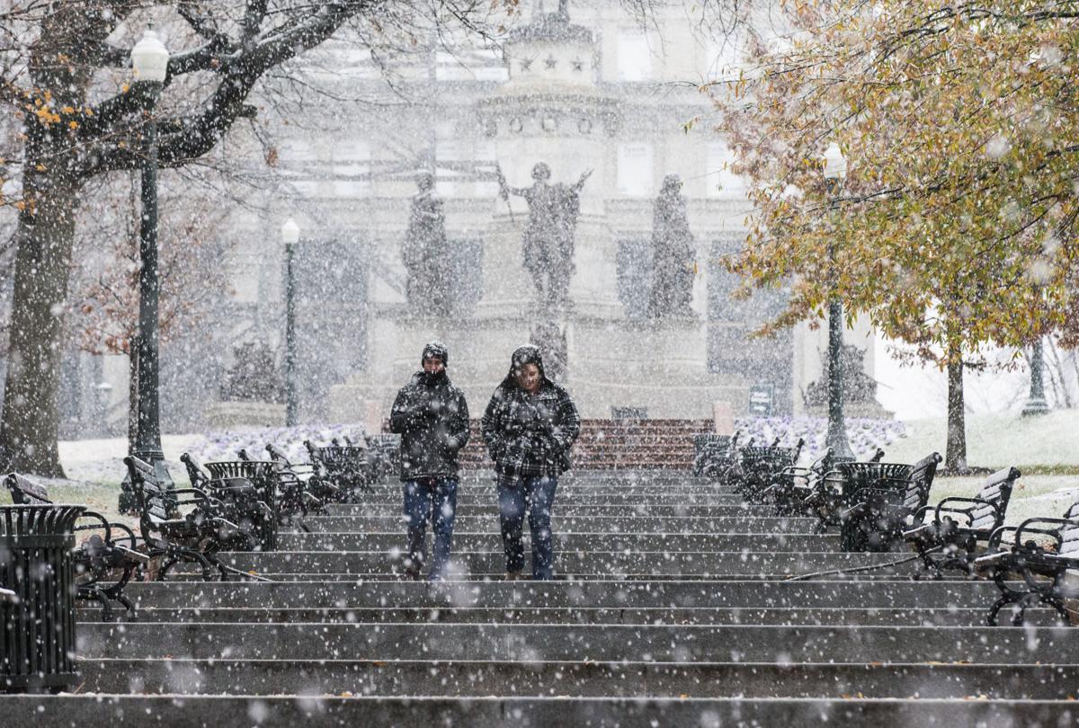 Snow in downtown Richmond