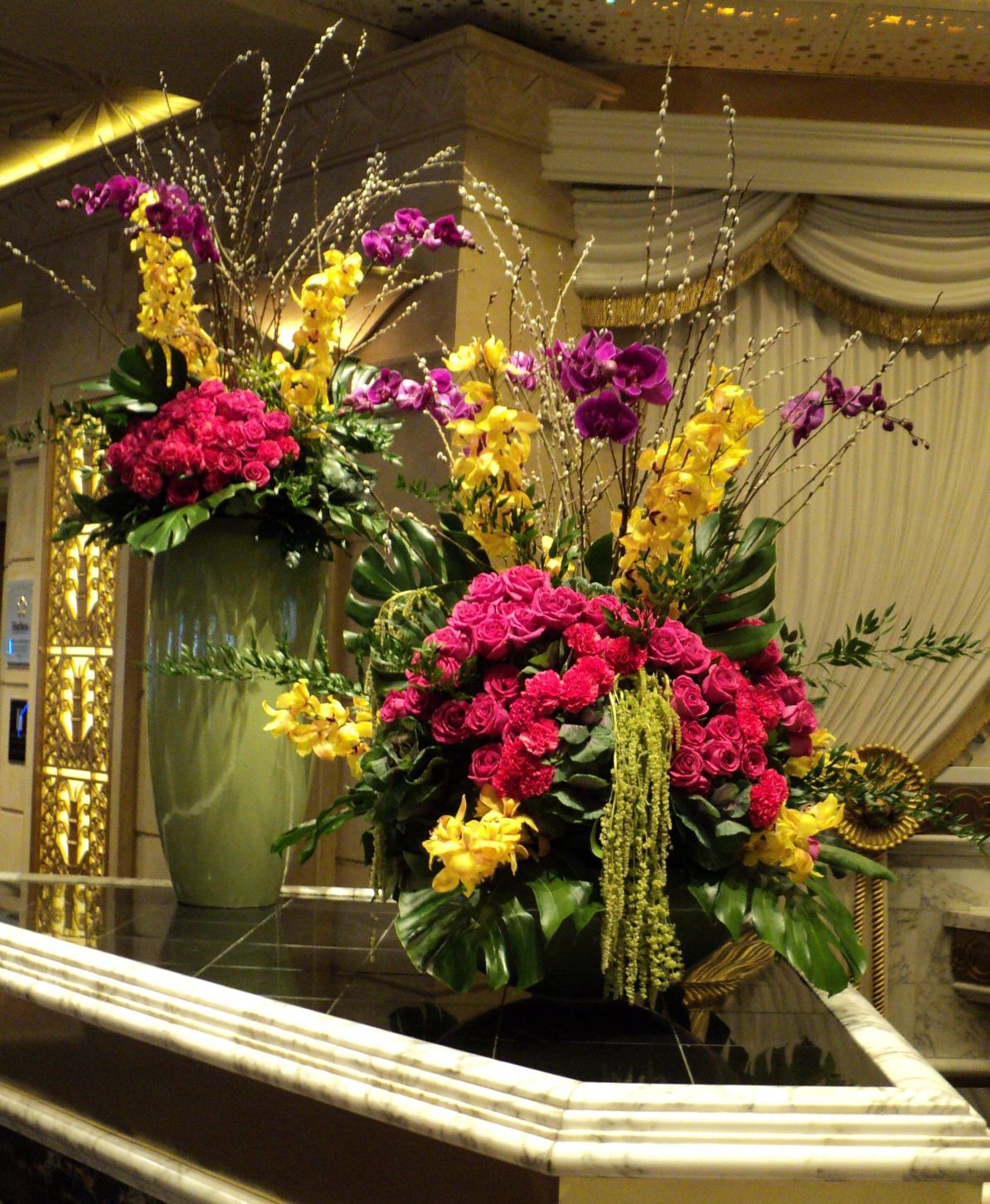 Hotel Foyer Flower Arrangements : Orchids orchid displays in resort hotels home and gardens