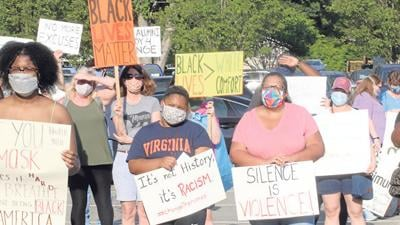 Protest held at HCPS