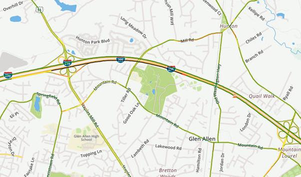 Richmond Traffic Map.Traffic Update Two Lanes Of I 295 Will Close Again Friday Night For