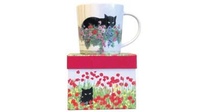 Captivating cat coffee or tea mug
