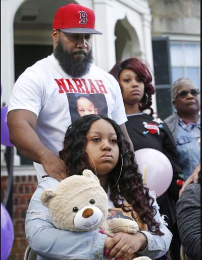 Nariah Brown's family at May 14 vigil