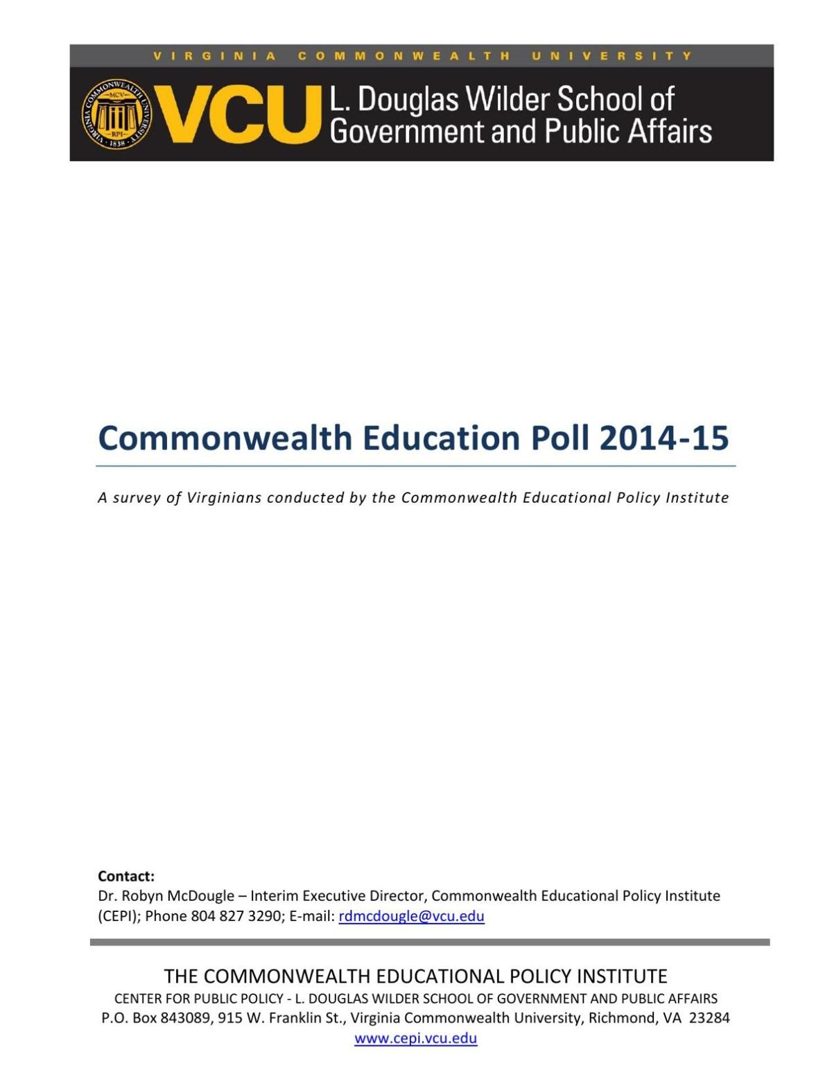 Commonwealth Education Poll 2014-15