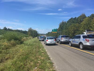 Crash scene on Interstate 64 in Henrico County