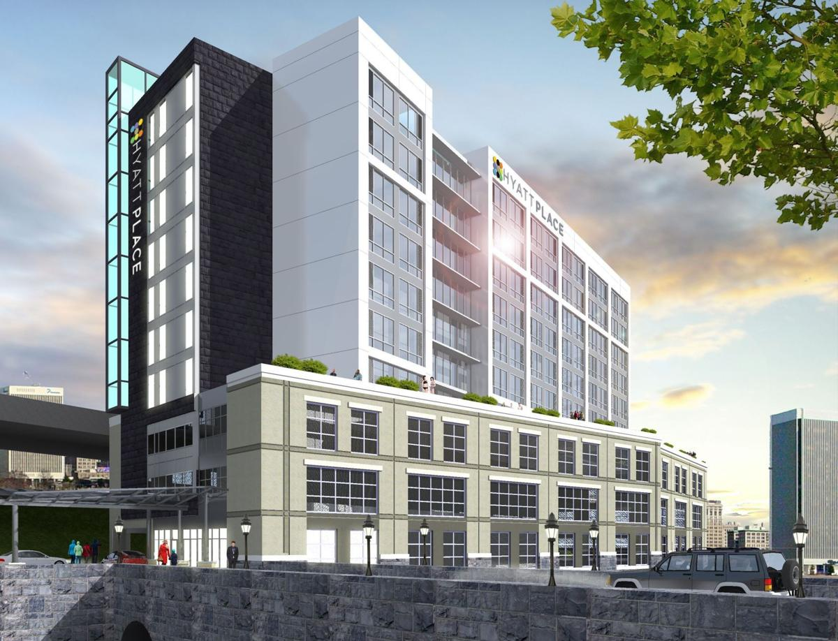 The Proposed Hyatt Place Hotel At Locks Is Planned For Along Kanawha C In Downtown Richmond 10 Story Targeted To Open