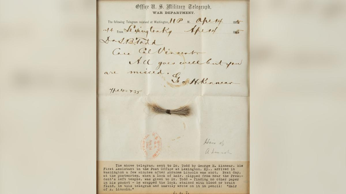 Lock of Abraham Lincoln's hair sells for more than $81,000 at auction