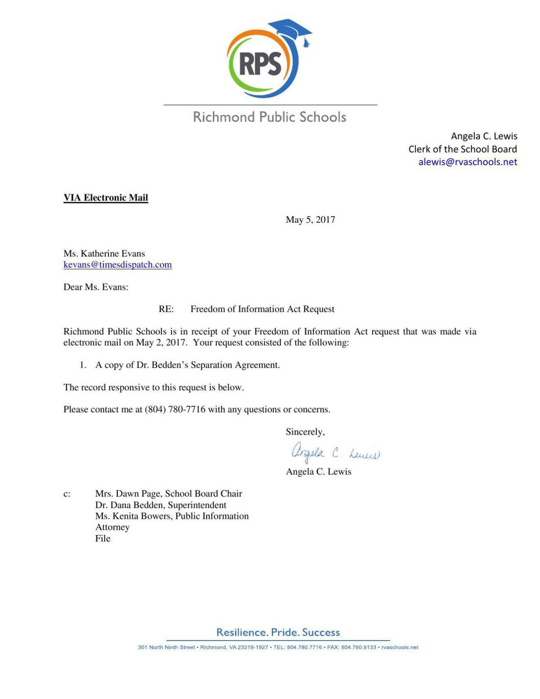 Separation Agreement Richmond
