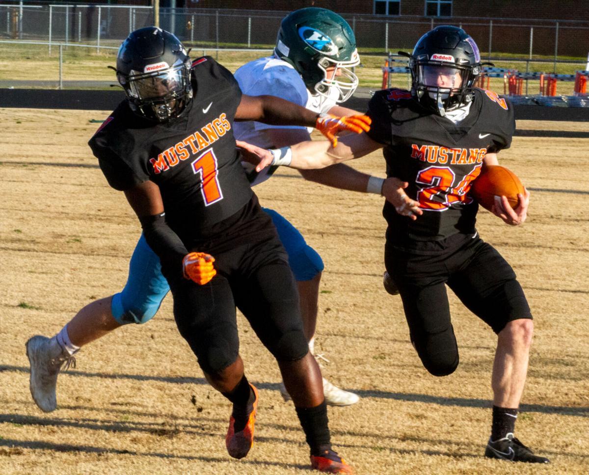 Hanover at Mechanicsville football: Varner tries to get away