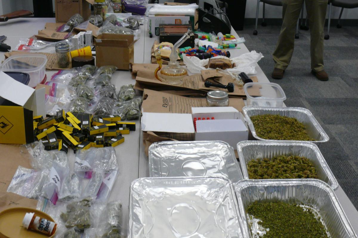 Marijuana and drug paraphernalia seized from James T. Taylor Jr.'s home