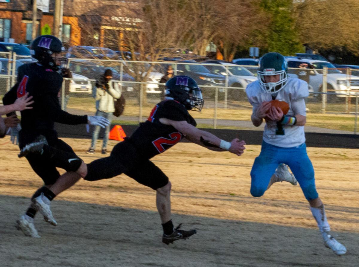 Hanover at Mechanicsville football: Flora gets pick