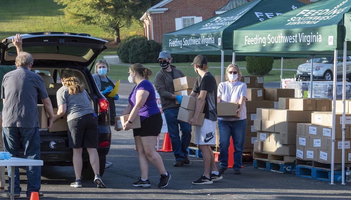 Virus Outbreak Virginia Pop Up Food Bank