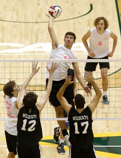 Deep Run vs. Glen Allen boys volleyball, Class 5 state champions