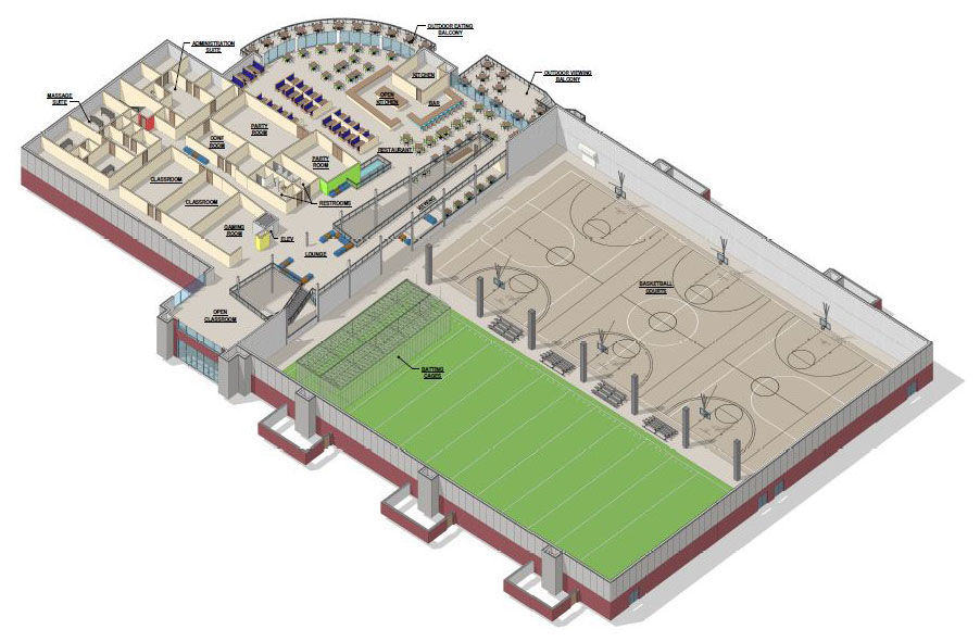 Hanover supervisors approve indoor sports complex baseball fields on 27 5 acres hanover for Sports complex planning design