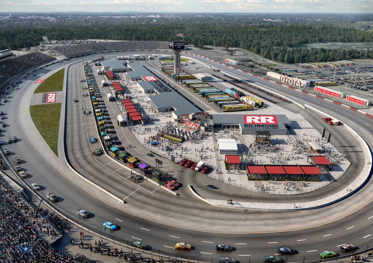 Richmond Raceway infield rendering