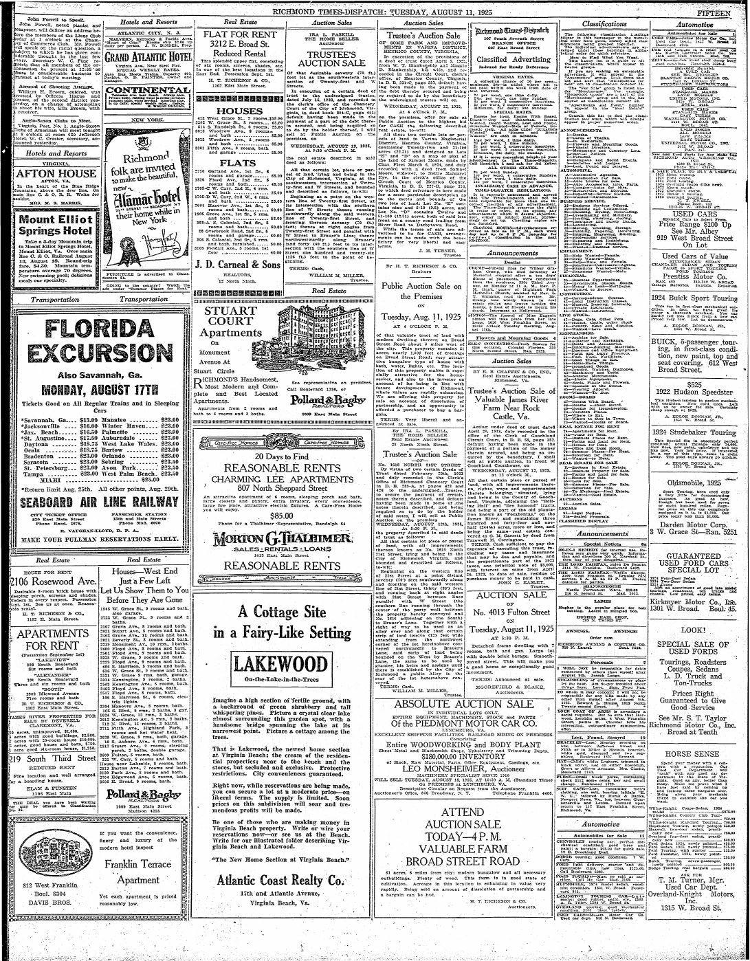 PiedmontAuctionAd1925