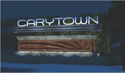 Carytown sign night