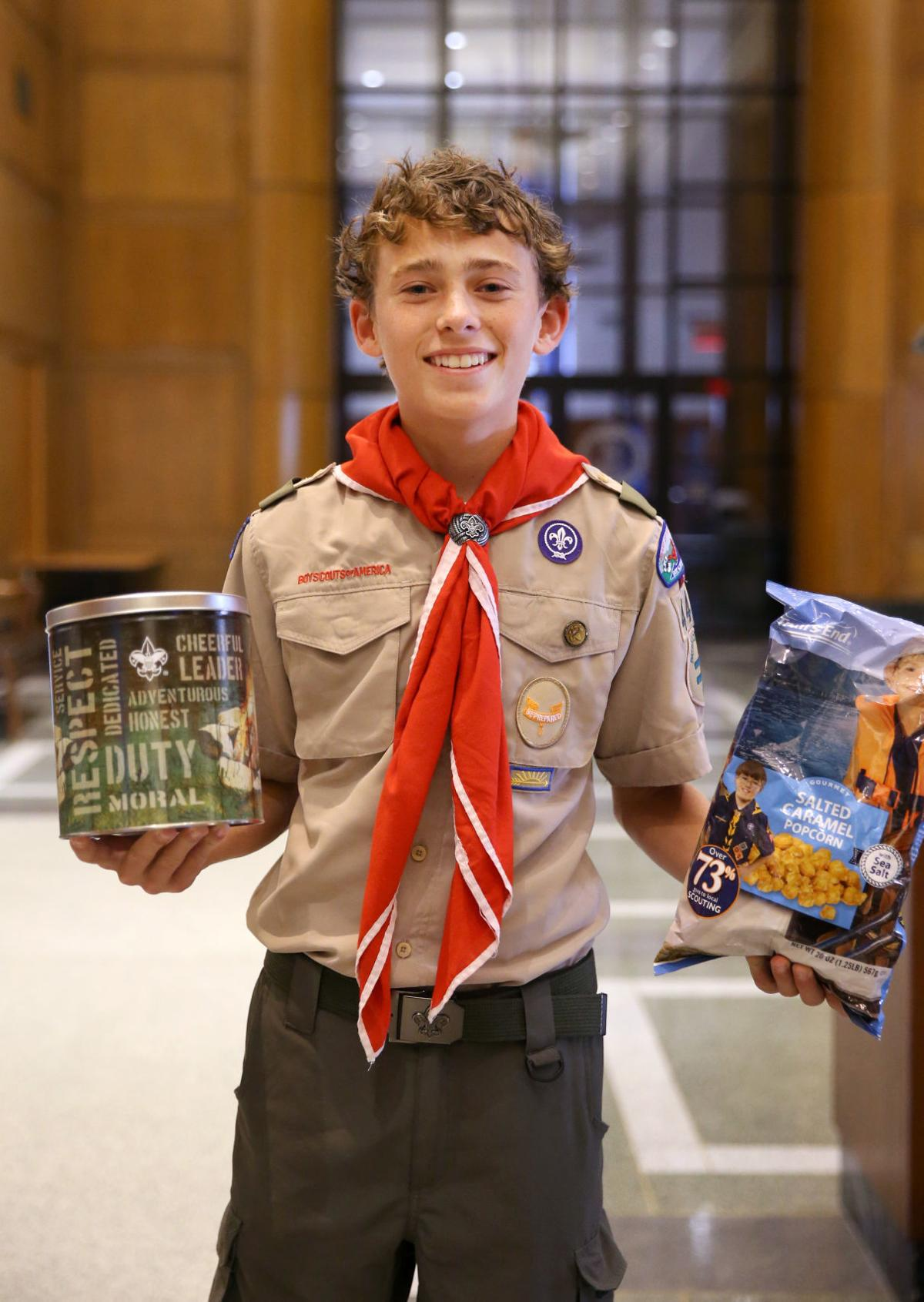 goochland boy scout who sold 51 420 worth of popcorn is virginia s