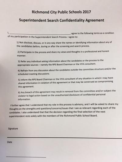 The agreement committee members were asked to sign