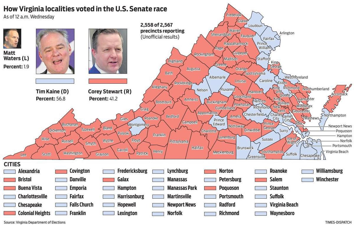 Virginia Senate Map