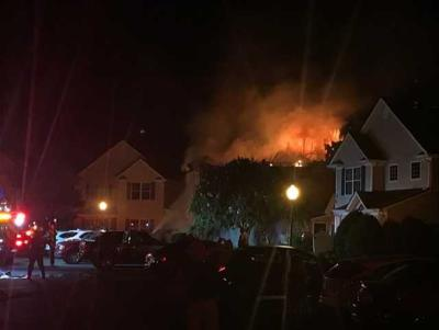 Twin Hickory Lake Drive fire