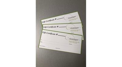 Aesthetic spa gift certificates