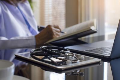 Doctor read book