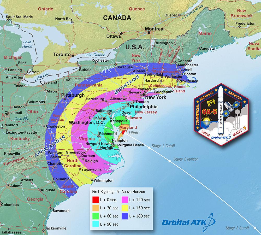 wallops launch map