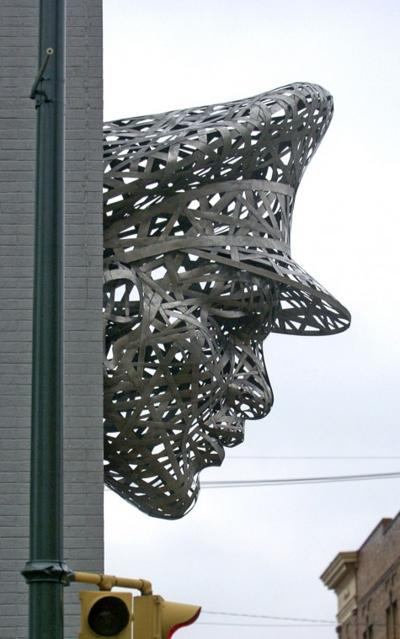 Police station sculpture