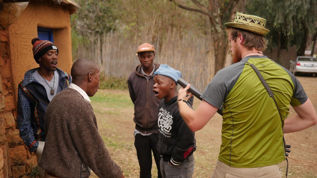 Alex Paullin in Malealea, Lesotho