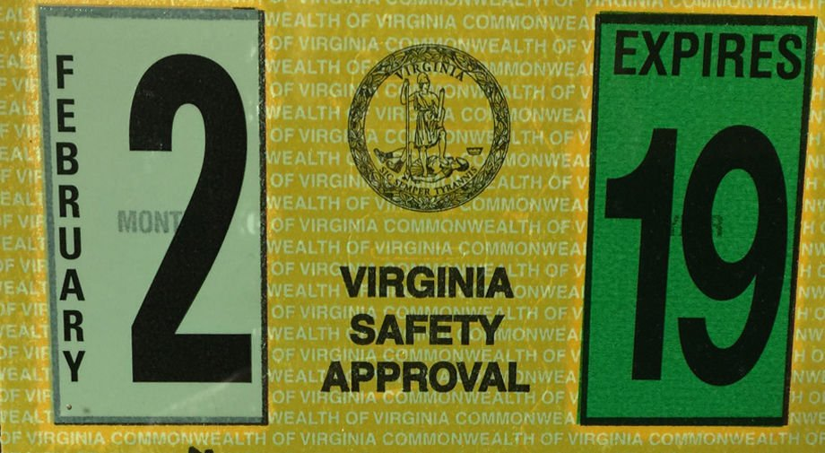 New Virginia car inspection stickers are smaller, less