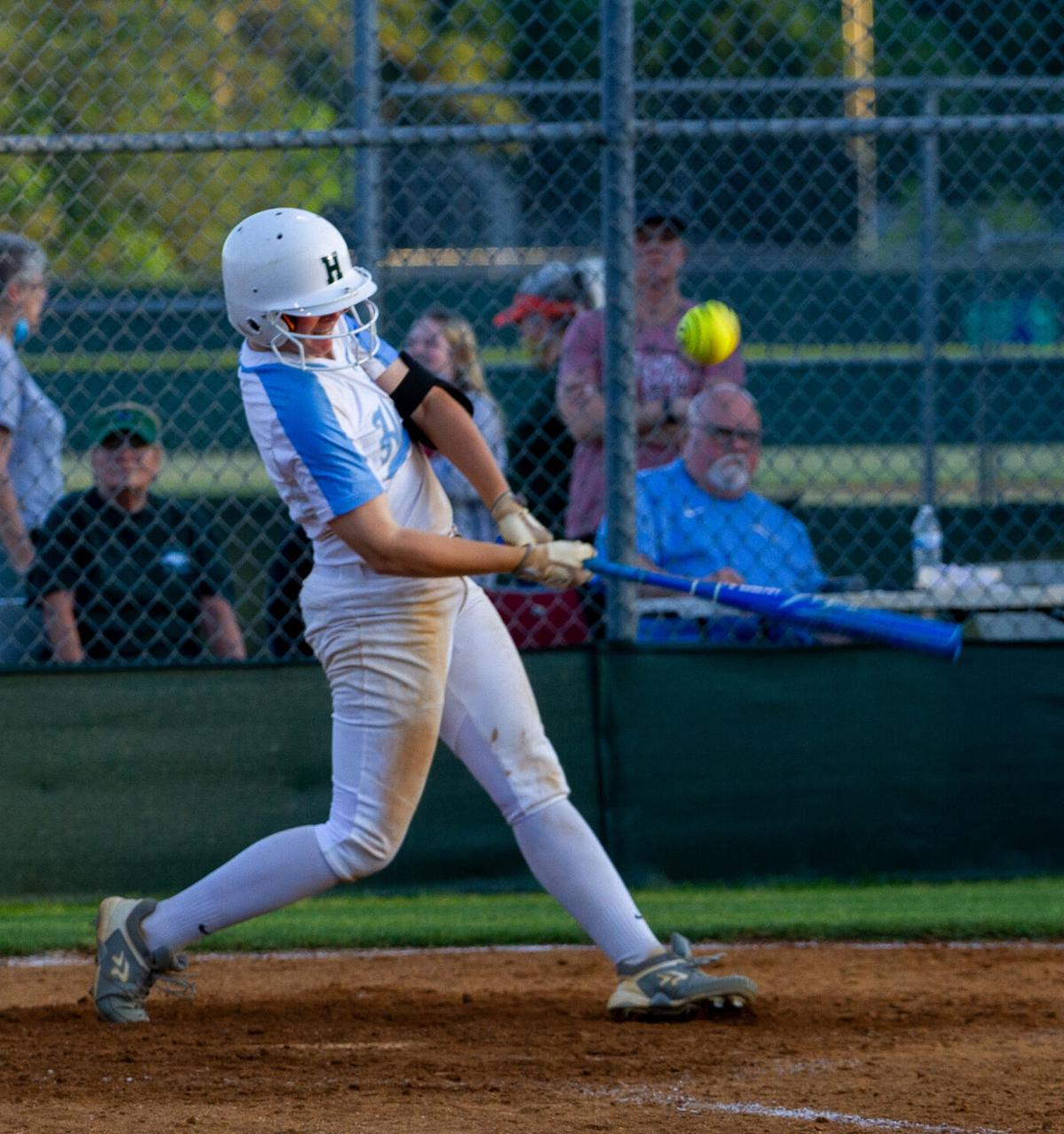 Atlee at Hanover softball: Parrish bloops a single