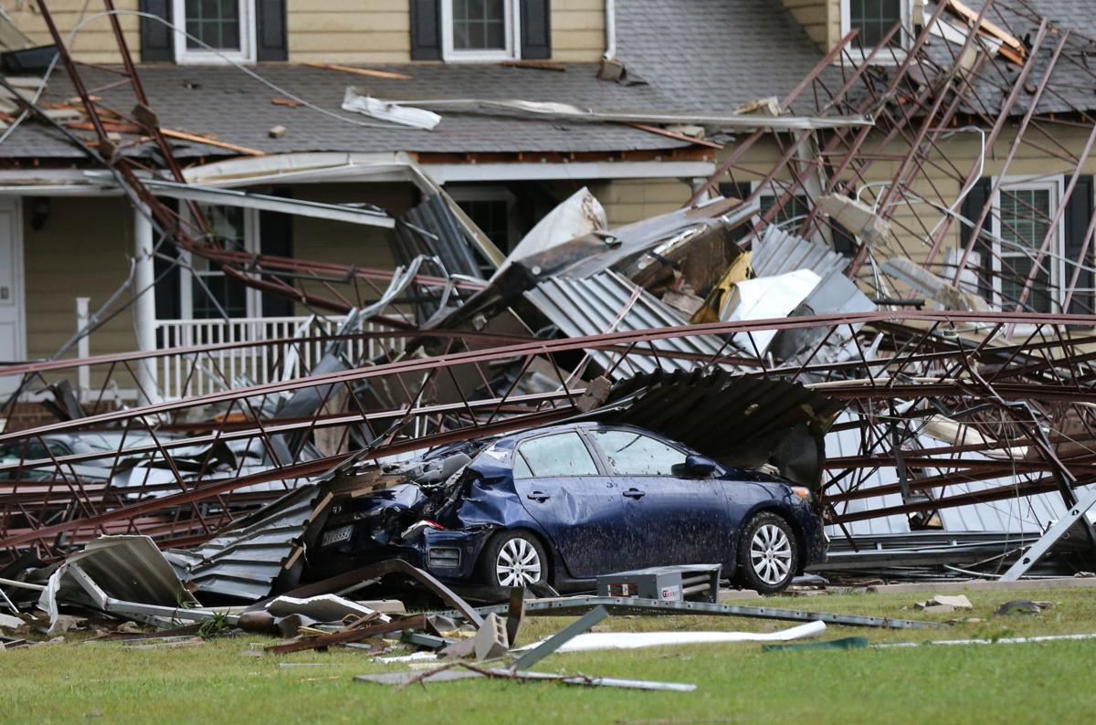 Tornado damages in Chesterfield