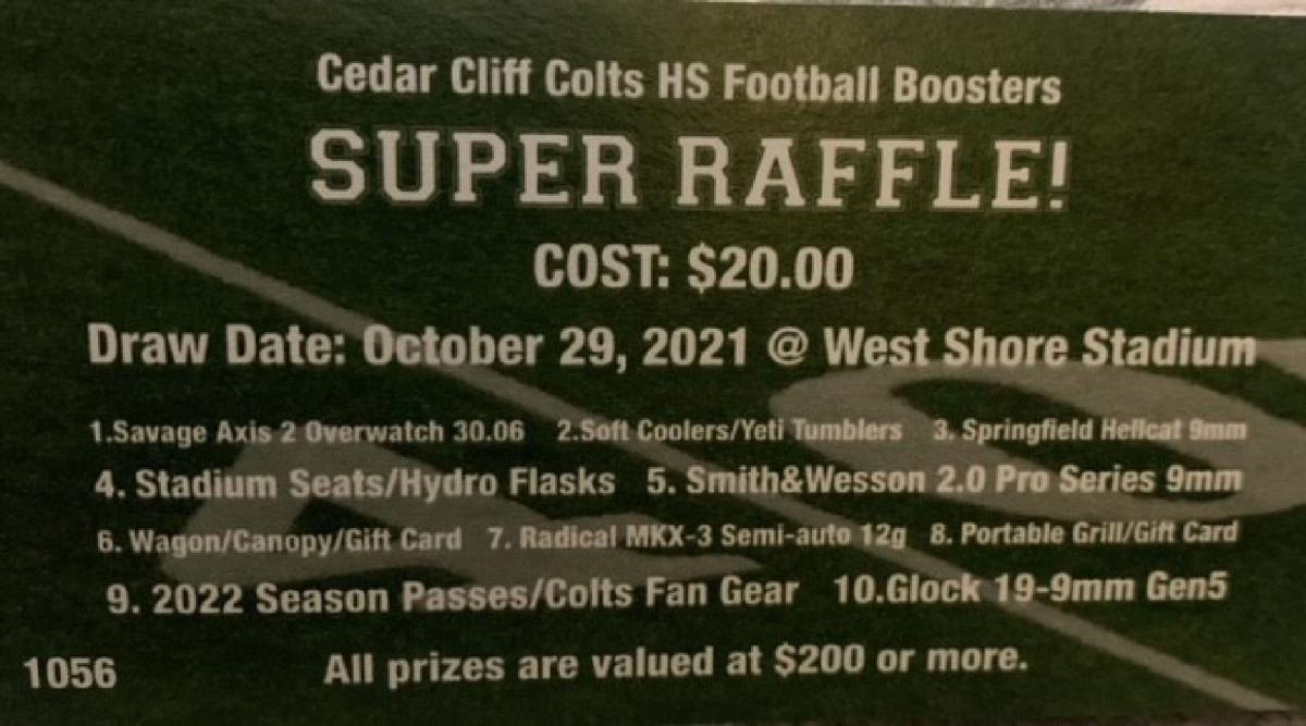 Cedar Cliff Colts raffle