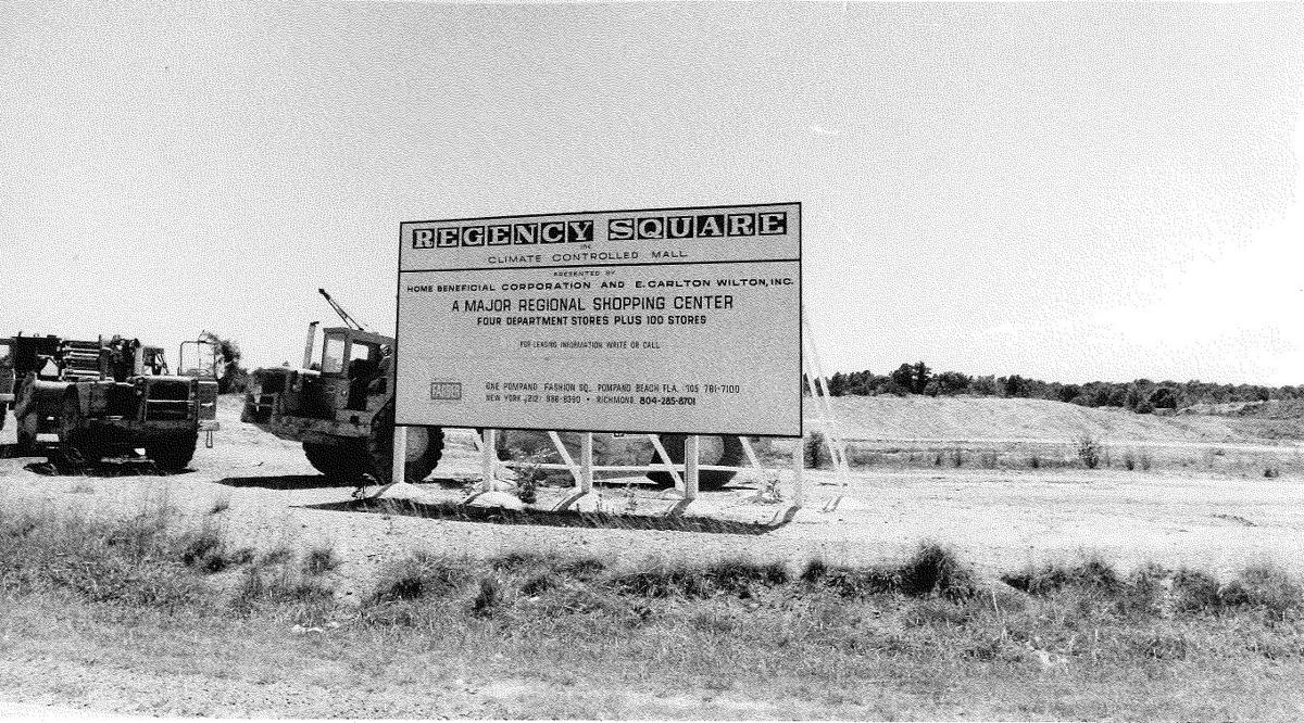 Regency Square: Sign of what's to come, 1974