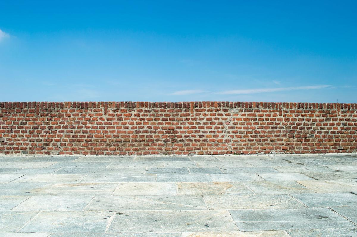 wall in front of sky