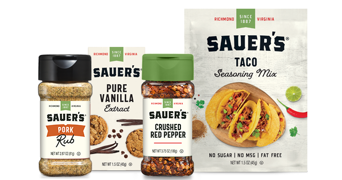 Sauer's New Packaging