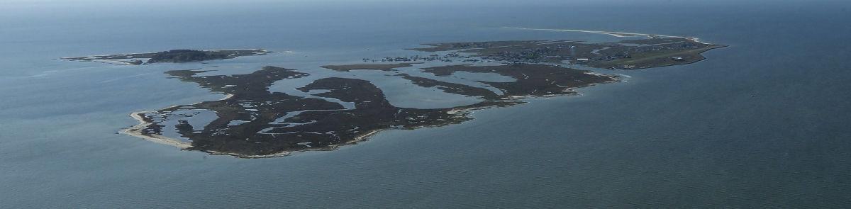Tangier Island aerial view