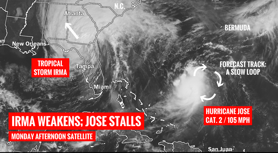 Hurricane Jose Path Could Bring Storm To East Coast