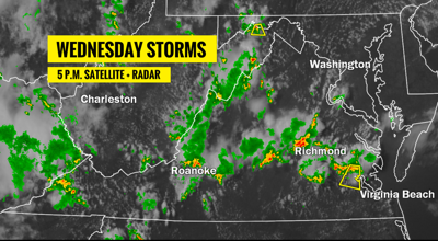 Update Storms in the Richmond area will taper off this evening