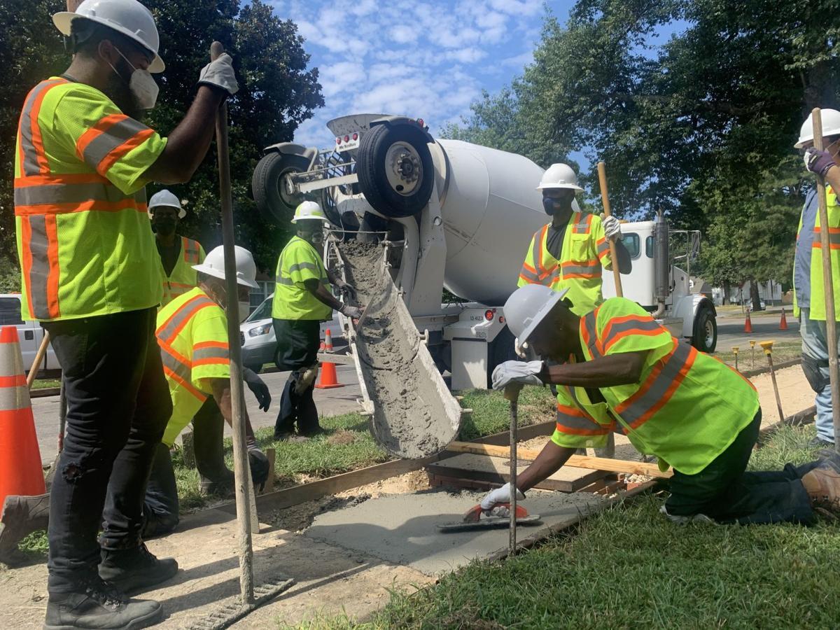 Richmond sidewalk maintenance crew