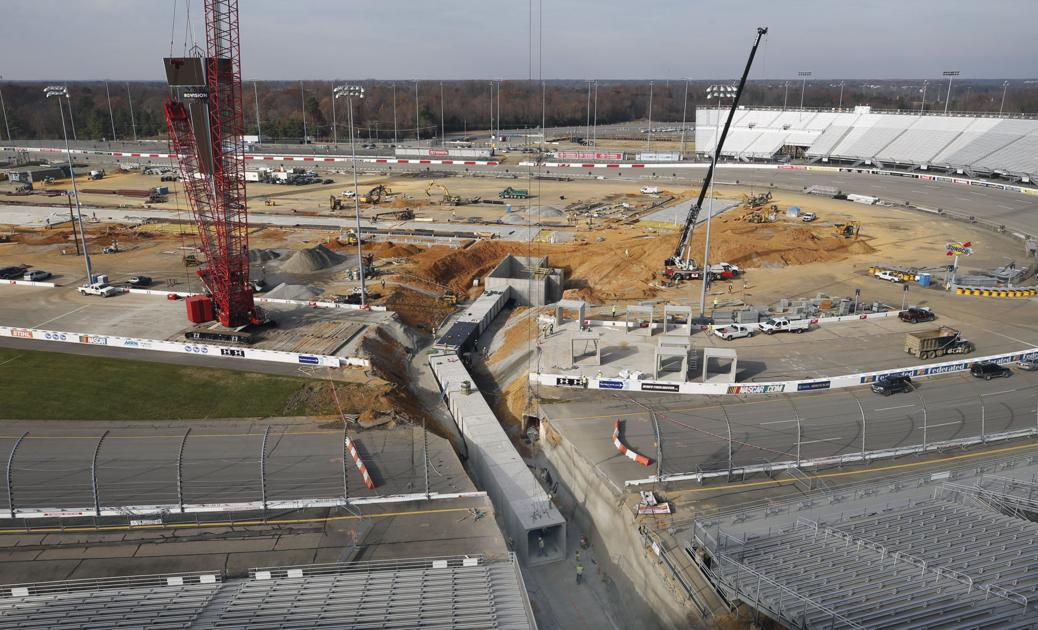 Richmond Raceway removes a portion of its racetrack to widen pedestrian tunnel