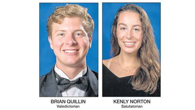Quillin and Norton lead AHS as valedictorian and salutatorian