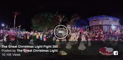 Christmas Light Fight.360 Video Richmond S Asbury Court On Great Christmas Light