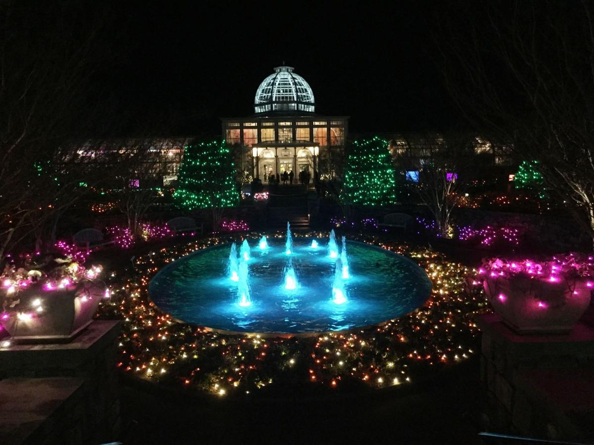 Lohmann a holiday tradition in full bloom at lewis ginter botanical garden columnist bill for Lewis ginter botanical gardens christmas